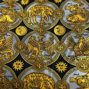 Lanvin Paris Accessories - Lanvin Paris Baroque black and gold silk tie made